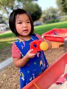 Preschool one girl playing in one of Fai