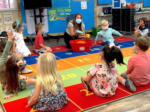 Circle time at the preschool classroom.