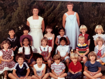 Maxine and Kathy with the Kinder class.j