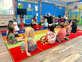 Preschool 3 classroom learning about sha