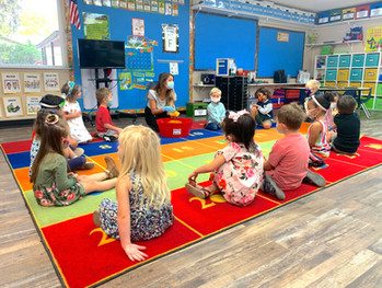 Preschool 3 classroom learning about sha