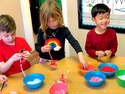 Improving our fine motor skills by makin