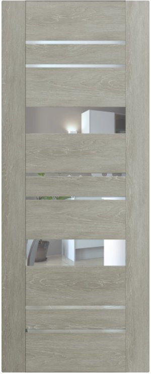 Мистраль 4 (экошпон) Дуб седой, зеркало обычное