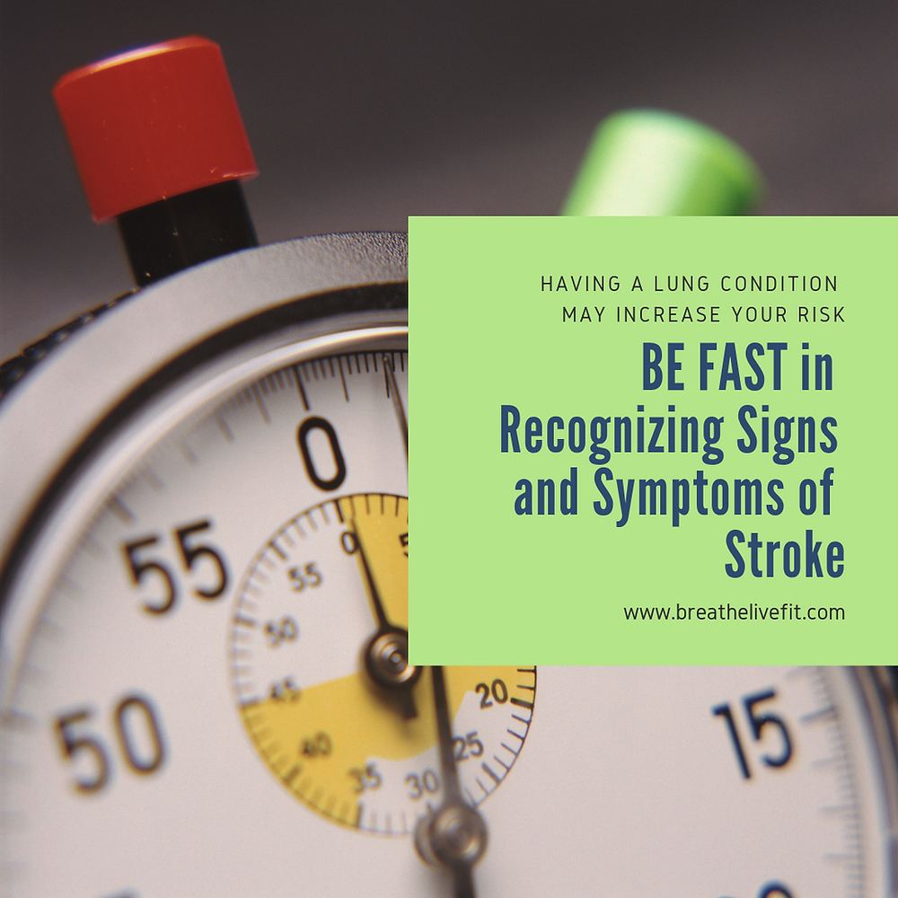 BE FAST in recognizing signs and symptoms of stroke