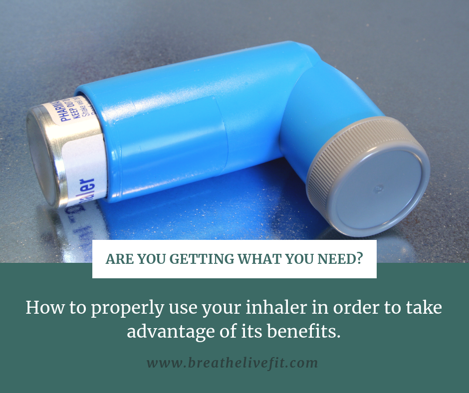 How to properly administer your inhaler in order to take advantage of its benefits.