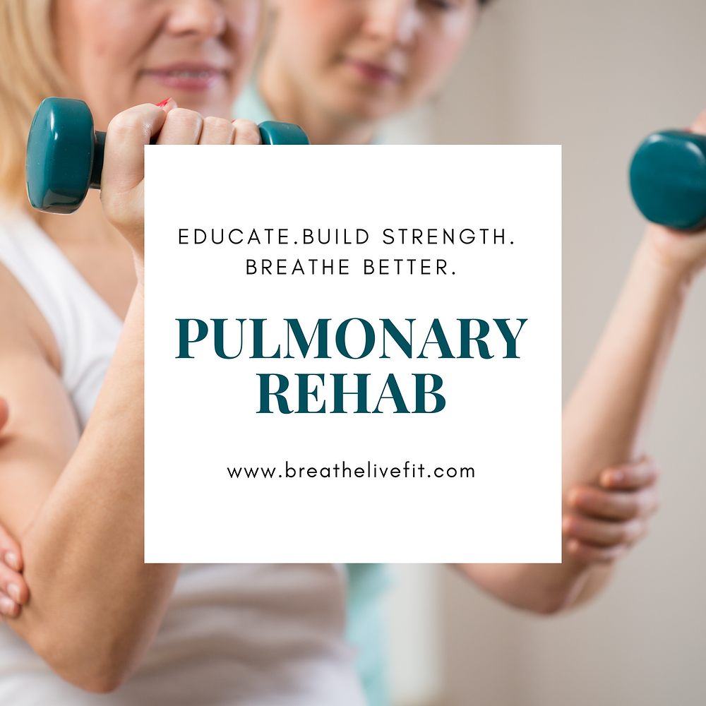 pulmonary rehab, COPD, emphysema, pulmonary fibrosis, asthma, lam, mac