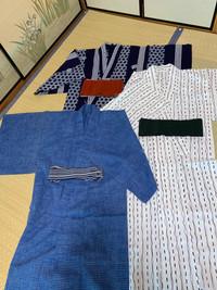 日本の浴衣(男性用)