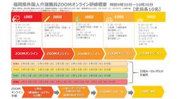 令和2年度 福岡県外国人介護職員介護技能ZOOMオンライン研修
