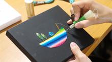 【LIVE Embroidery】刺繍アーティスト・okada marikoさんのデモンストレーション上演!