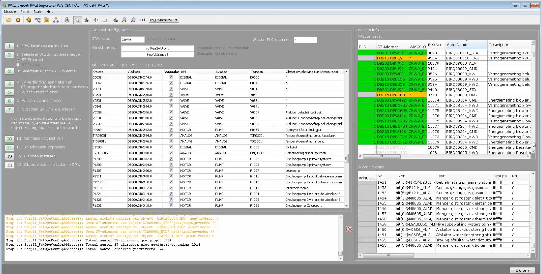 WinCC-OA RWZI importtool (Wizcon)