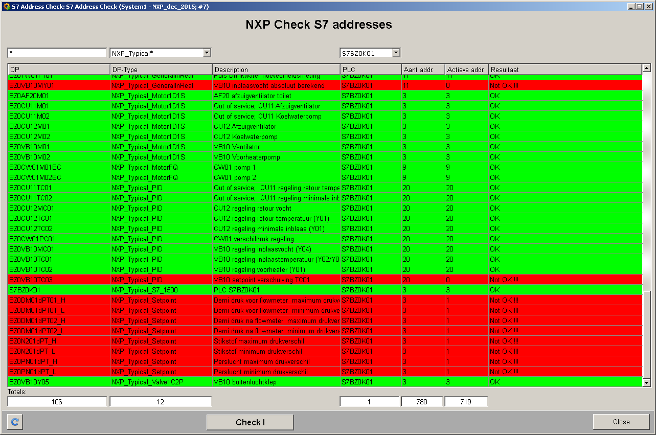 NXP S7 address check tool