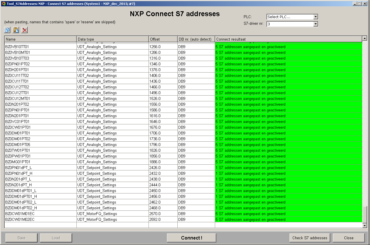 NXP S7 address connect