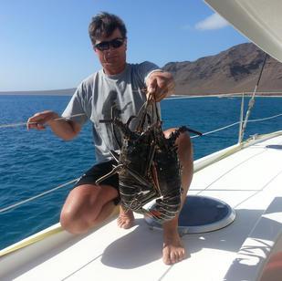 vom Fischer kaufen wir manchmal sehr frische Langusten, segeln mit Skippytirol ist immer spannend