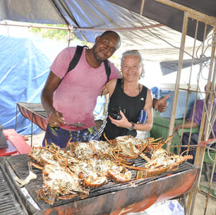 Karibik mitsegeln, Langusten