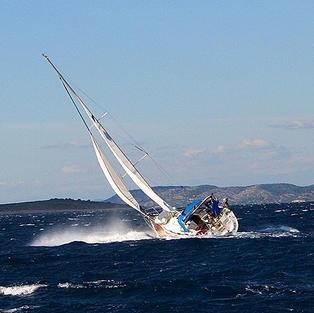 bei 6 bis 7 Bft. Bora segeln