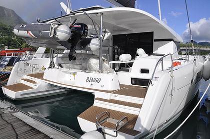 auhc auf diesem KAT sind wir bei unseren Seychellen Segeltoerns manchmal unterwegs, mitsegeln mit Skippytirol