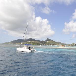 segeln in die Bucht bei Union Island, mkitsegeln mit Skippytirol