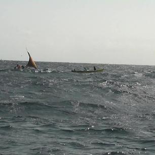 einheimische Fischer, mitsegeln