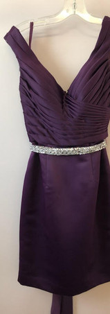 Size 6 Eggplant with Rhinestone Belt