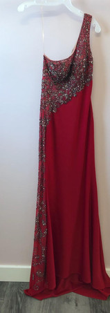 Size 6 Ruby with Black, Crystal & Red Rhinestones