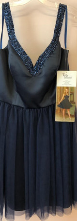 Size 14 Navy Satin and Tulle