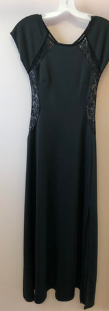 Size 8 Black wiht sheer black lace back