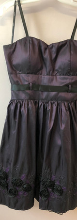 Size 12 Deep Purple with Black Rosettes