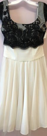 Size S Ivory & Black Lace