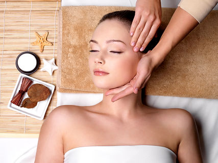 Pampering and massage for beautiful face