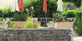 terrasse du restaurant à chavaniac lafayette
