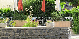 terrasse de la pizzeria à chavaniac lafayette