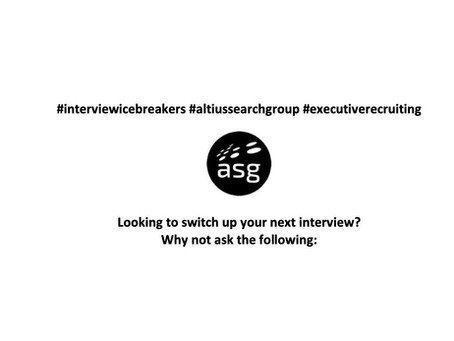 Looking to switch up your next interview?