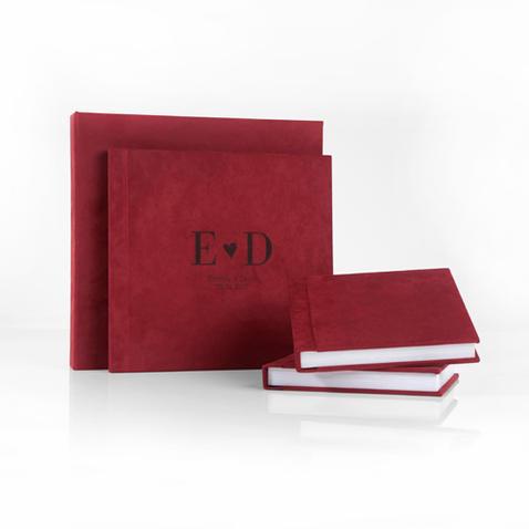 Album Photo avec couverture rouge réalisé par ma pause boudoir