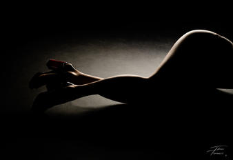photo boudoir de jambes de femme