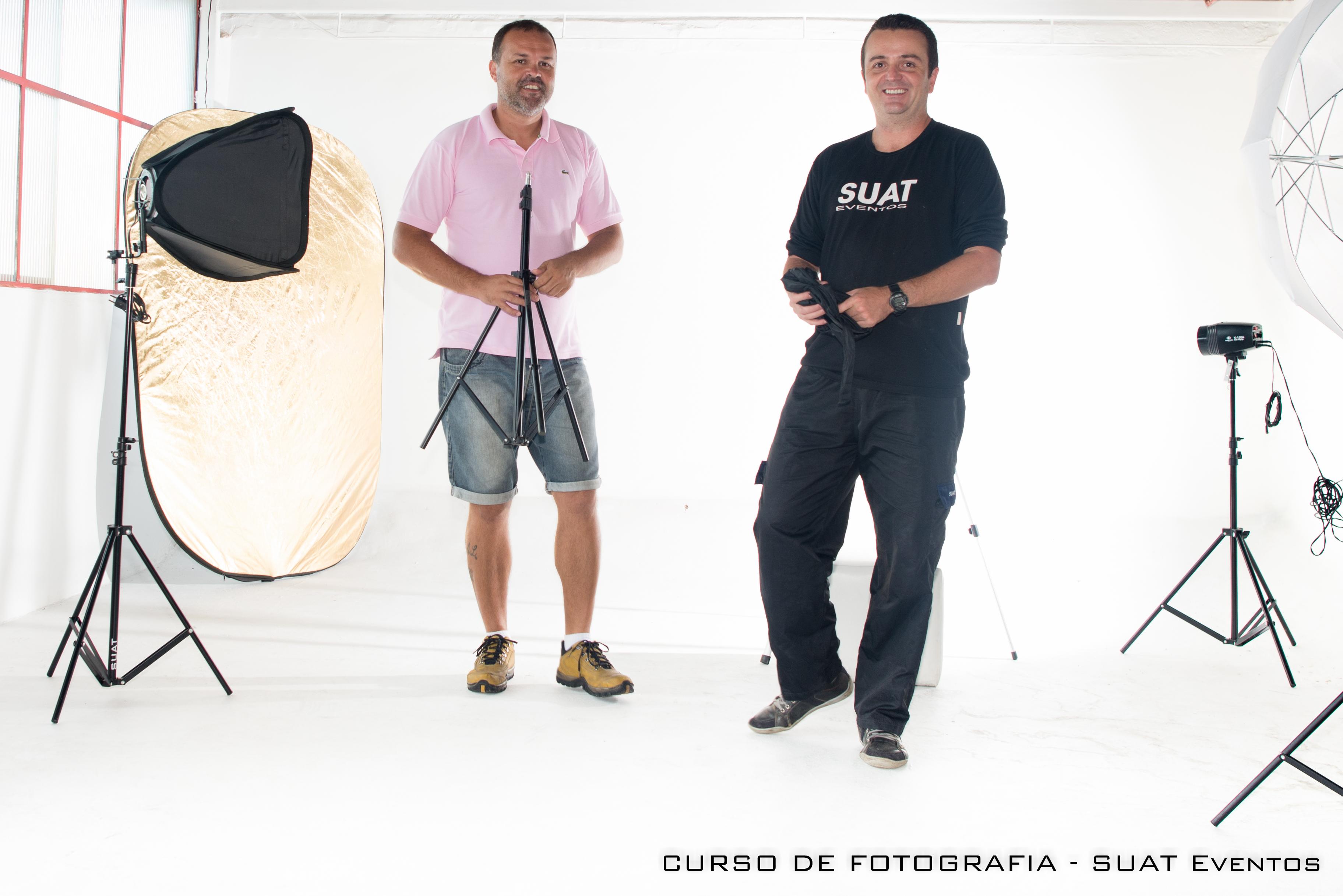 CURSO DE FOTO - Aula em estúdio