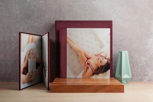 Album Photo avec cadre réalisé par ma pause boudoir
