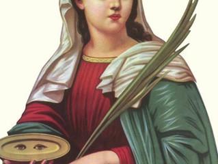 Santa Luzia , protetora dos olhos