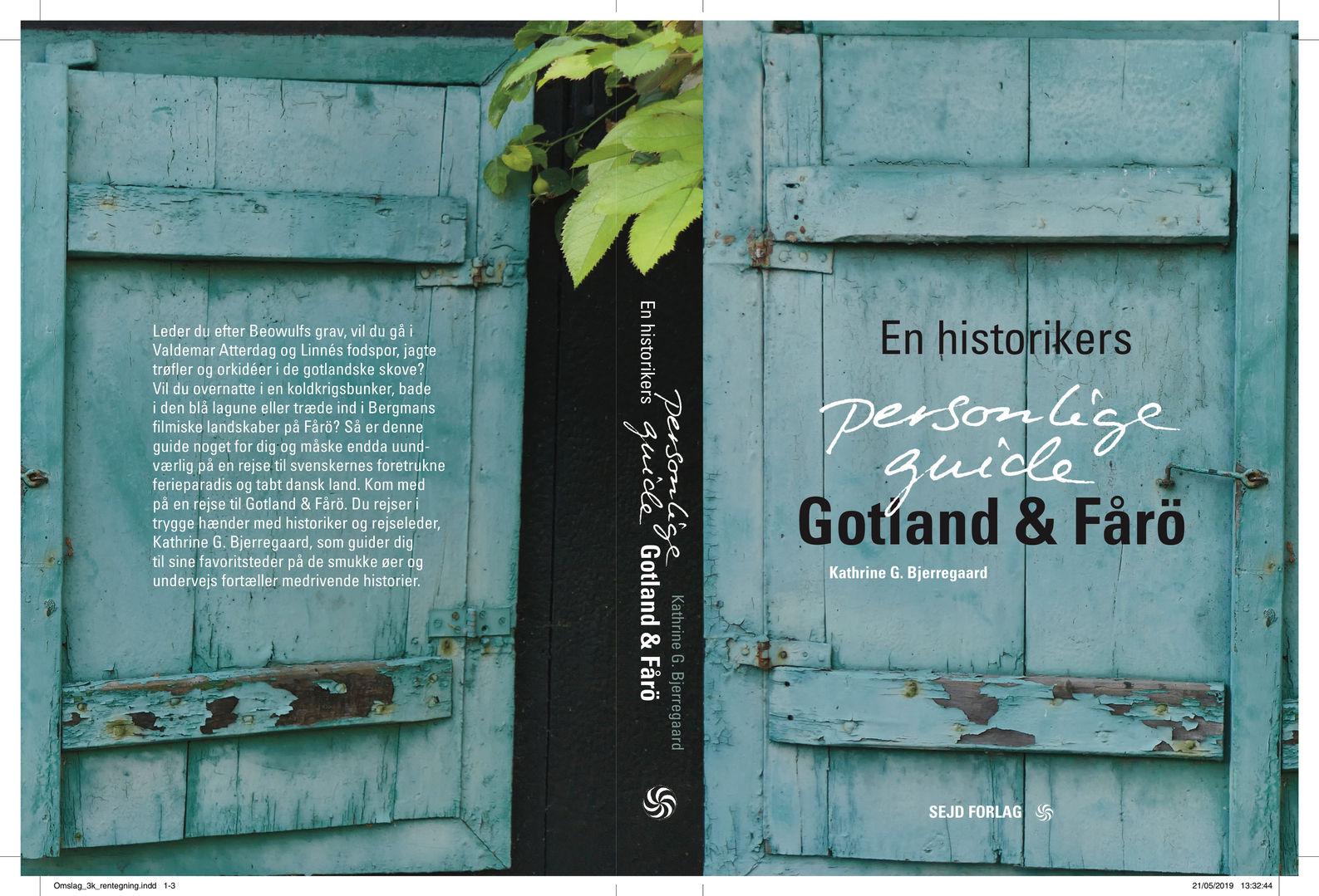 For- og bagside på min guidebog om Gotland og Fårö - to svenske øer i Østersøen!
