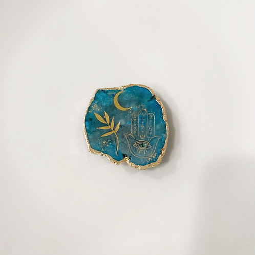 Hand of Fatima -blue druzy