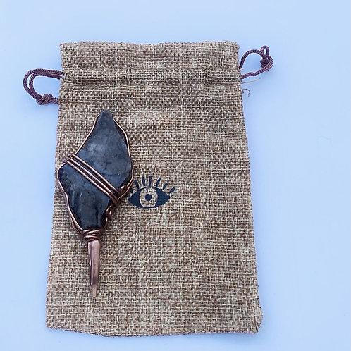Petrified wood roach clip