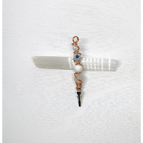 Silver Hamsa mini wand