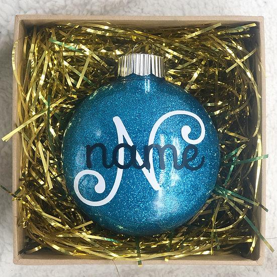 CUSTOM NAME Chritsmas Ornament