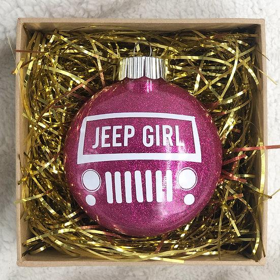 JEEP GIRL Chritsmas Ornament