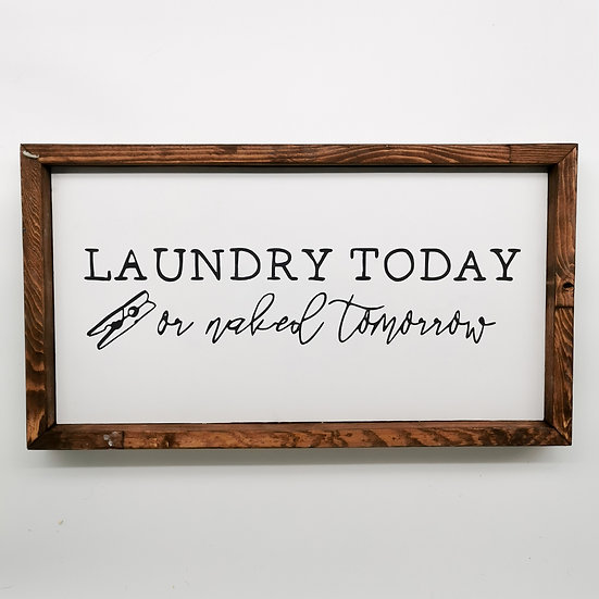 LAUNDRY WOODEN SIGN