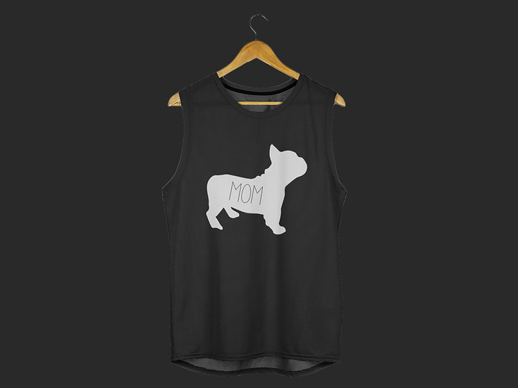 FRENCHIE MOM MUSCLE TANK