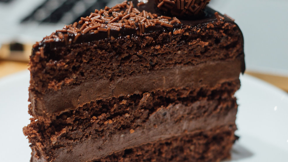 Bolo de brigadeiro de chocolate 70%