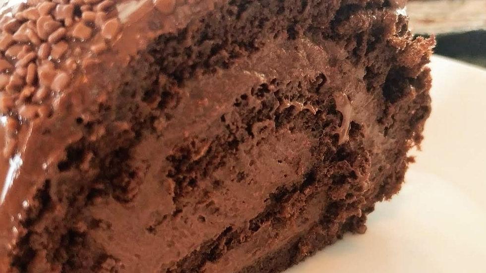 Rocambole de chocolate 70%
