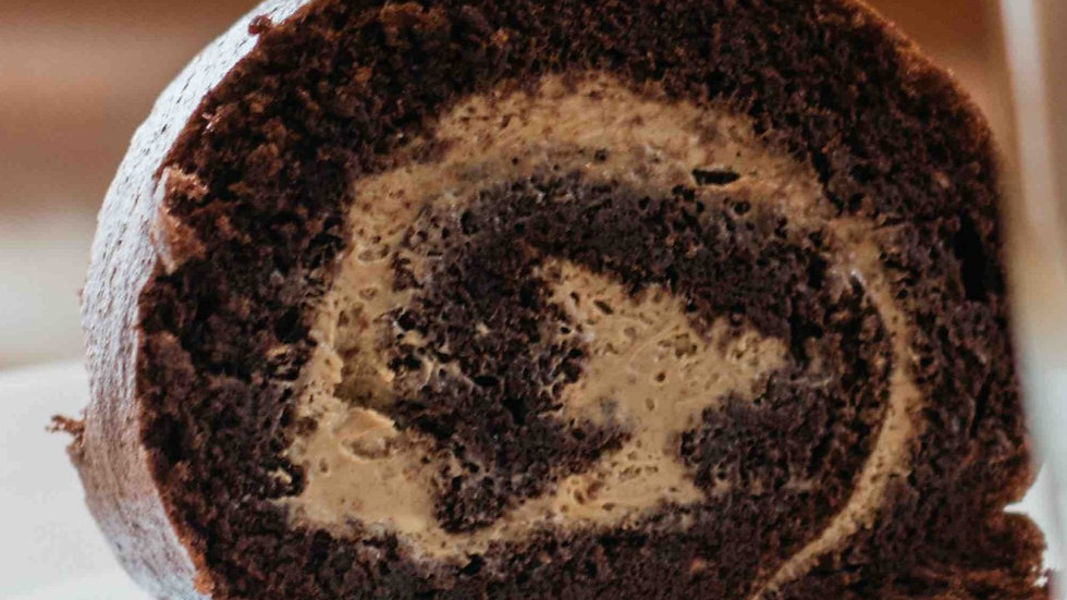 Rocambole de cappuccino (Cetogênico)