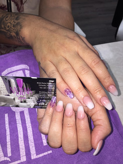 Naillinis Customer's beautiful acrylic nails
