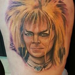 David Bowie Tribute, tattoo by Josh #artinlouisville #thehighlands #baxter #tattooshopsinlouisville